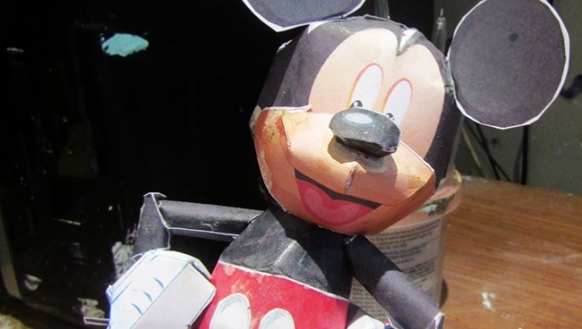 Mickey Mouse model by Henry Linstead